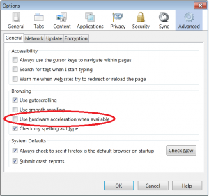 Firefox dropdown menus are flickering
